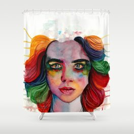 A Grieving Rainbow Shower Curtain