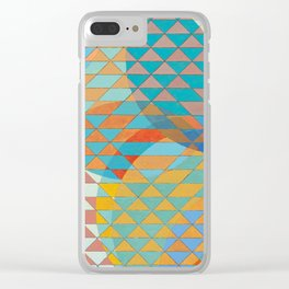 Triangle Pattern No. 11 Circles Clear iPhone Case