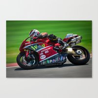 ducati Canvas Prints featuring Ducati by marcod