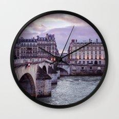 Le Pont Royal, Paris. Wall Clock