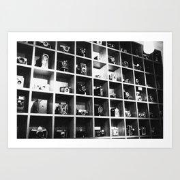Vintage Camera Affair. Art Print