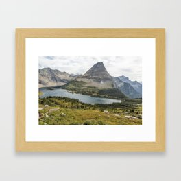 Overlooking Hidden Lake and BearHat Mountain Framed Art Print