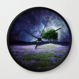"""Soul Tear"" - Nature Meets Space Wall Clock"