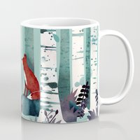 spring Mugs featuring The Birches by littleclyde