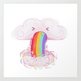 puking cloud Art Print