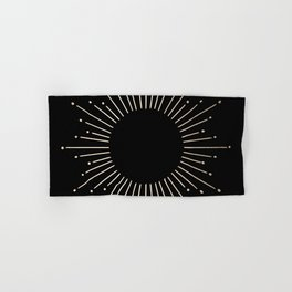 Sunburst White Gold Sands on Black Hand & Bath Towel