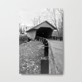 Newfield Covered Bridge 1853 Metal Print