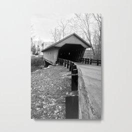 Newfield Covered Bridge 1853 Metal Print