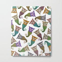 Cat Piranhas Metal Print