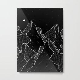 The dark jagged peaks Metal Print