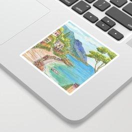 Seaside Village Sticker