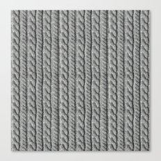 Grey Knit feeling Canvas Print