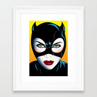 catwoman Framed Art Prints featuring Catwoman by mark ashkenazi