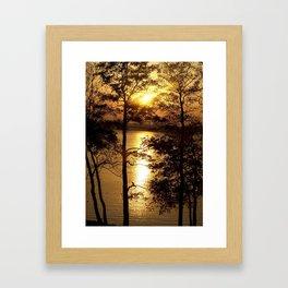 Golden lake Framed Art Print