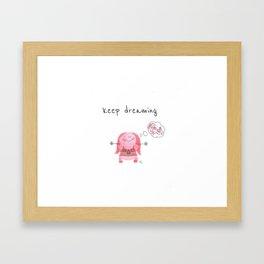 keep dreaming Framed Art Print