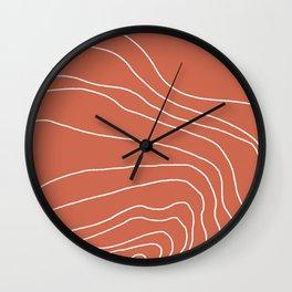cyan lines Wall Clock