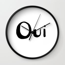 French Quote Oui Wall Clock
