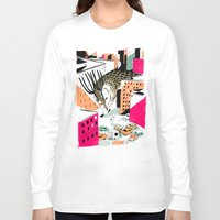 giants Long Sleeve T-shirts featuring GIANTS! Deer by Pietari Posti