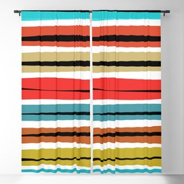 Multicolored Stripes Blackout Curtain