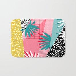 Bingo - throwback retro memphis neon tropical socal desert festival trendy hipster pattern pop art Bath Mat