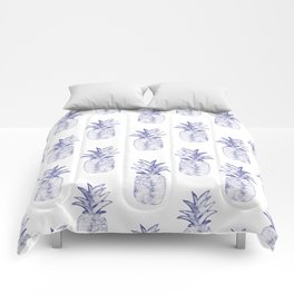 Blue Pineapple Comforters