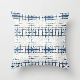 Faded Japanese Shibori Throw Pillow