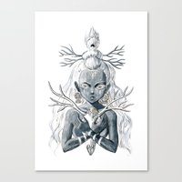 luna Canvas Prints featuring Luna by Freeminds