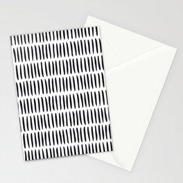 Classy Handpainted Stripes Pattern, Scandinavian Design Stationery Cards