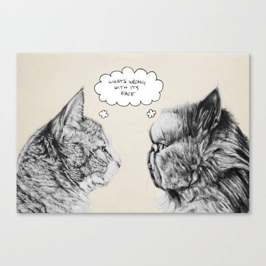 Cat Confusion Canvas Print