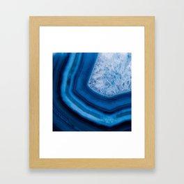 Blue Agate Geode Framed Art Print
