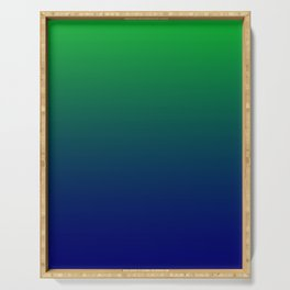 Green to Blue Gradient Serving Tray