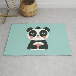 Panda Loves Coffee Rug
