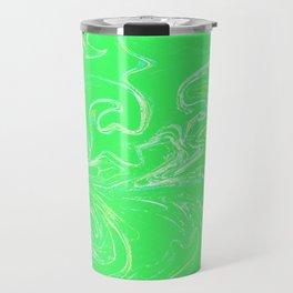 Neon green abstract Travel Mug