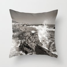 The wave. Bolonia beach. Tarifa Throw Pillow