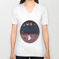 planets V-neck T-shirts featuring Planets by Cs025