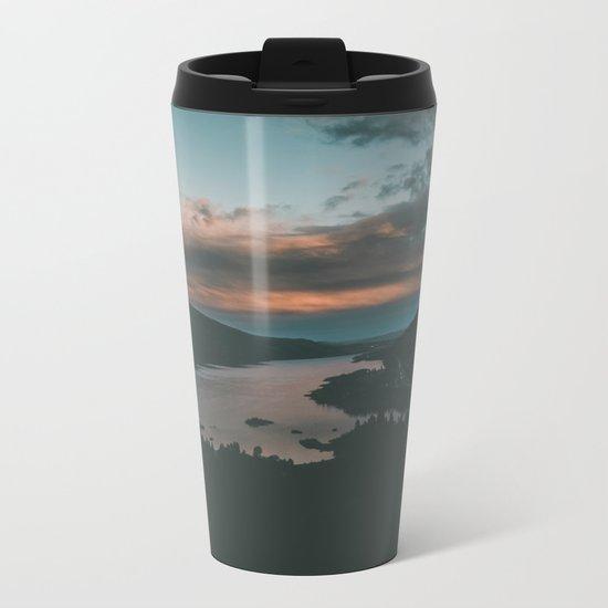 Columbia River Gorge Sunset Metal Travel Mug