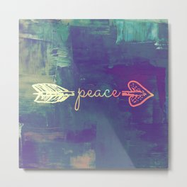 Peace Arrow II Metal Print