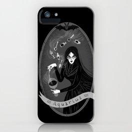Aquarius Witchy Zodiac iPhone Case