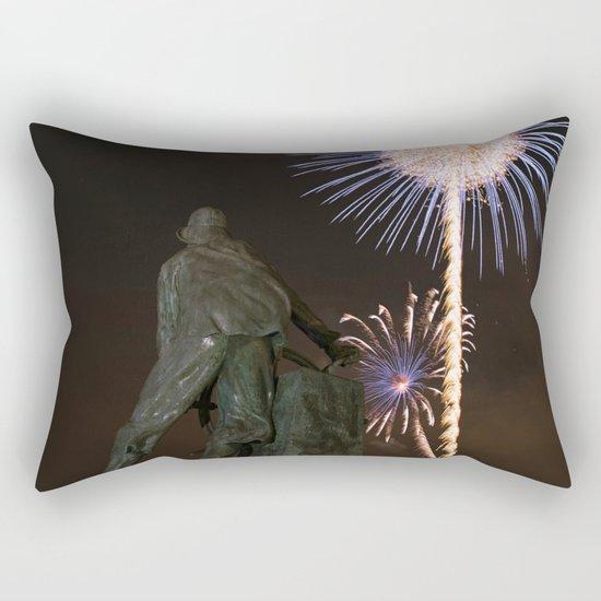 Fisherman's Memorial fireworks Rectangular Pillow