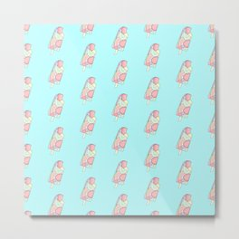 FRUITY POP ((pastels on pastel blue)) Metal Print