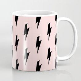 Lightning Bolts Blush Coffee Mug