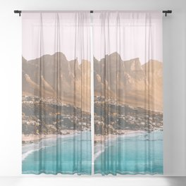 Cape Town, South Africa Travel Artwork Sheer Curtain