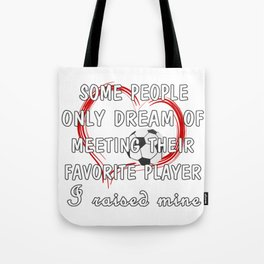 Football Mom Favorite Player Tote Bag