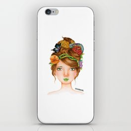 """Element Girls Drawing - """"Earth"""" iPhone Skin"""