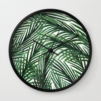 tropical Wall Clocks featuring Tropical by Elly Liyana