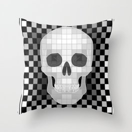 Chess Skull Throw Pillow