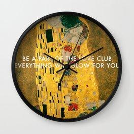 Love Club Kiss Wall Clock