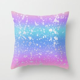 Pastel Unicorn Rainbow  Throw Pillow