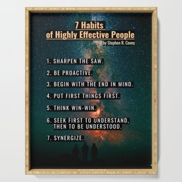 7 Habits of Higly Effective People Serving Tray