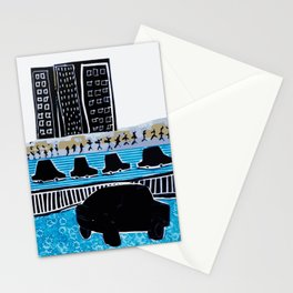 A ride in the city Stationery Cards